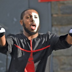 Javon Garrett prayed for peace and prosperity along with hundreds in Chester Park.
