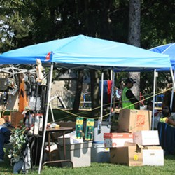 Sharon Hill Borough hosted its fall Flea Market and Craft Sale recently at Memorial Park on Chester Pike and Coates St. The event, held in the spring and fall, was sponsored by the Sharon Hill Recreation Board and attracted people from the community and throughout the area.