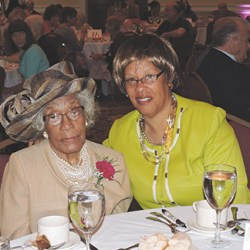 Chester resident Alice Hall, 100, with her daughter, Livia Smith.
