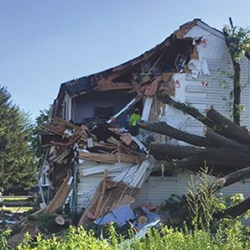 Brookhaven Councilman John Wilwert is used to helping others but as a result of last month's violent storm, is on the other side of the helping equation as he and his family lost their home to damage caused by high winds and rain.