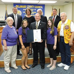 The Aston Leo Club was also recognized by Delaware County Council.