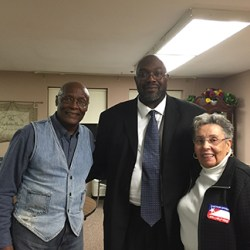 Richard Womack also met on the campaign trail, the former mayor of Yeadon, Jacqueline B. Mosley and his former Cub Scout master, Ernest Davis.