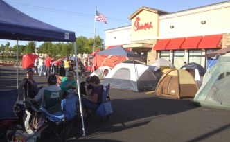 Campers at the Chick-fil-A opening in Layton in 2011.