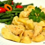 Creamy Orecchiette with Chicken and Artichokes