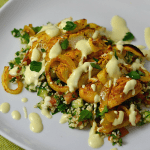 Easy Oven Roasted Chicken Shawarma with Tabbouleh