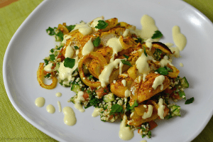 Easy Oven Roasted Chicken Shawarma with Tabbouleh - Chew Nibble Nosh