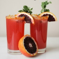 Blood Orange Gin Fizz