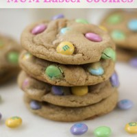 Soft and Chewy M&M Easter Cookies