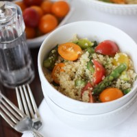 Quinoa Salad with Asparagus and Tomato