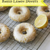 Baked Lemon Donuts made with Greek Yogurt