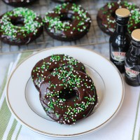 Guinness Chocolate Donuts with Baileys Icing