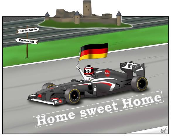 """""""9. Germany… my home Grand Prix with my Germans fans; the Nürburg Ring is always exciting. At the flag, one more point to the tally."""""""