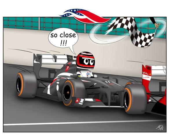 18. USA … duelling with Fernando, that's what it's all about! Naturally, Ferrari power? ! ?