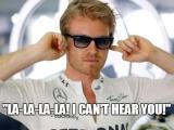 rosberg la la la i should be a plastic german