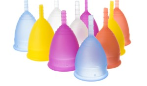 Lunette's menstrual cup comes in two size
