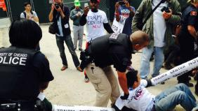 police move protesters