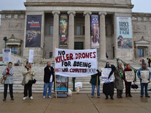 Chicago Protests at Boeing Shareholders Meeting 2014