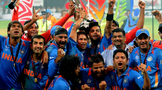 Dhoni's stellar partnership paved the way for India to end its 28-year wait for a World Cup title in 2011.