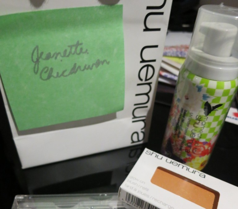 Received some goodies from Shu Uemura for the Make Up Test!