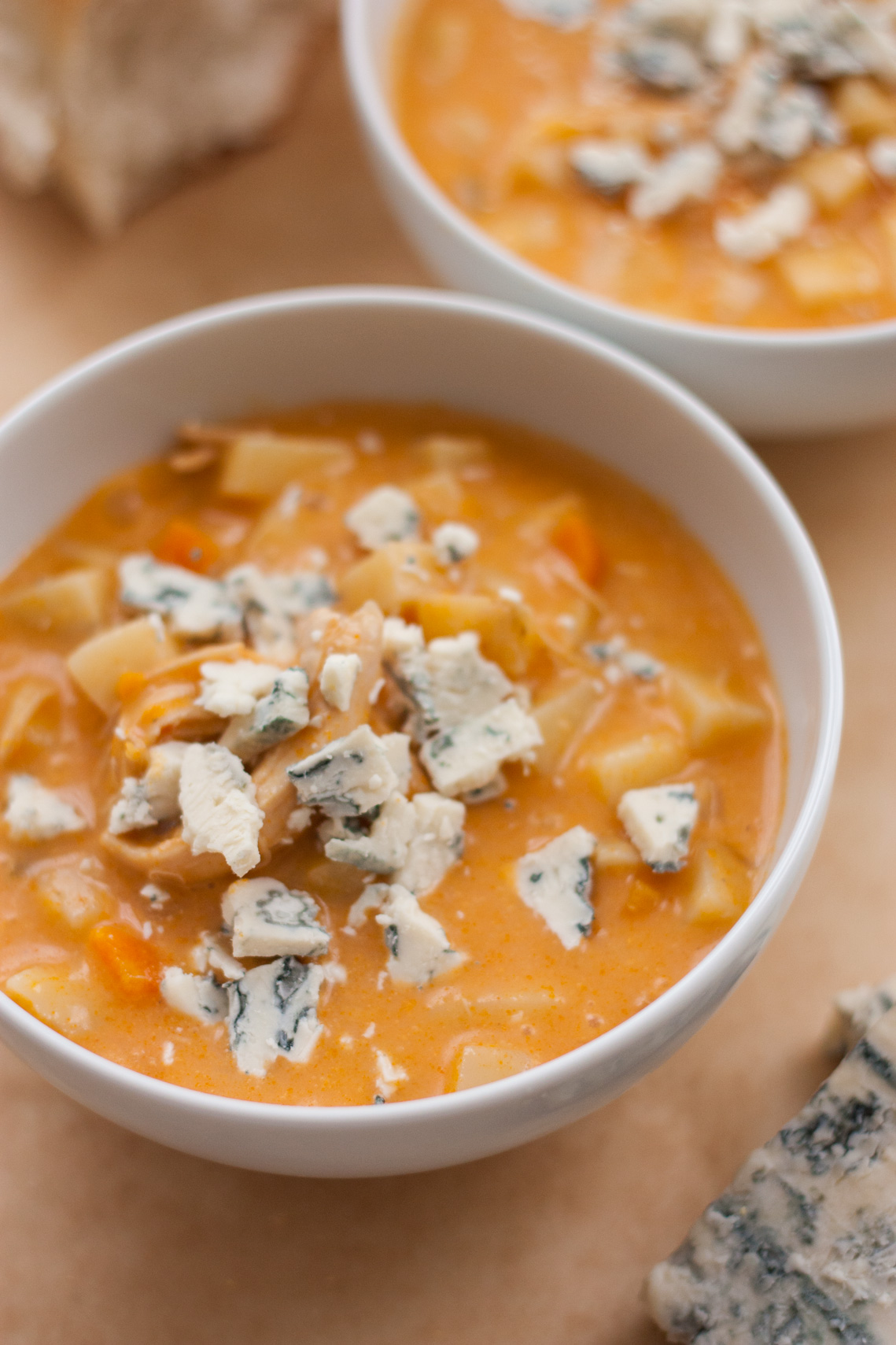 Buffalo Chicken Chowder with Blue Cheese Crumbles | Chick ...