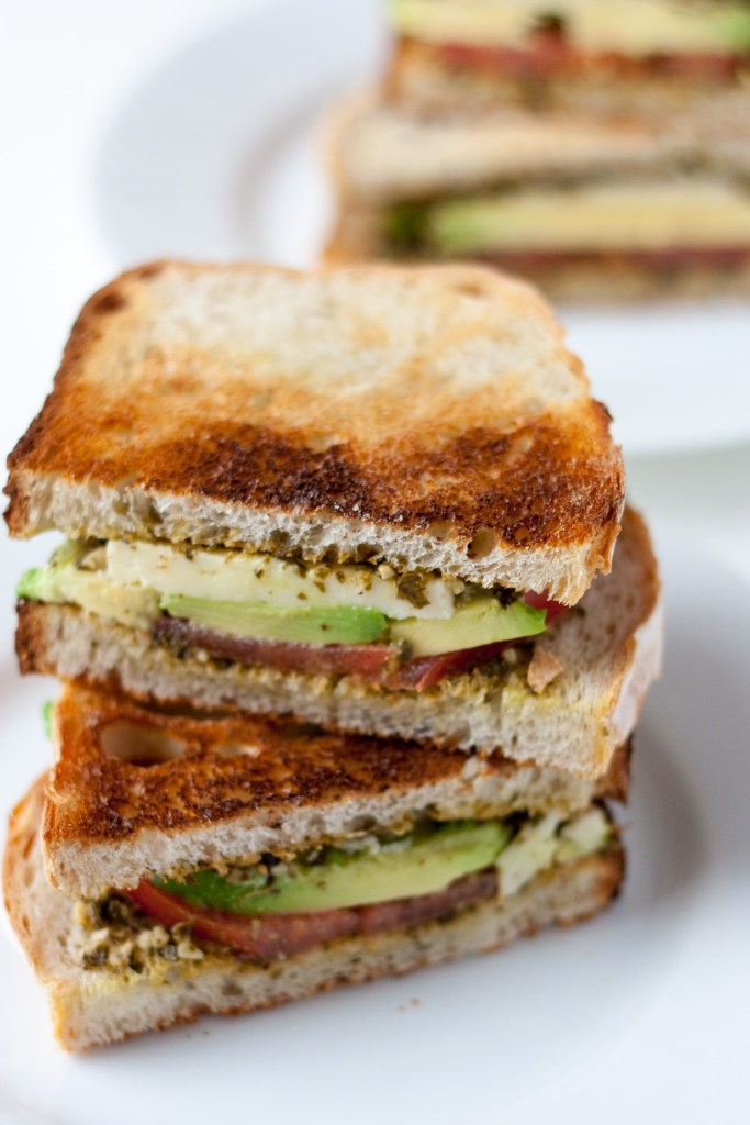 Pesto, Tomato and Avocado Sandwich - Also known as the PTA sandwich is a quick and easy vegetarian sandwich with a unique combination of flavors.