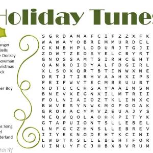 Christmas Word Searches – Snowman and Holiday Songs
