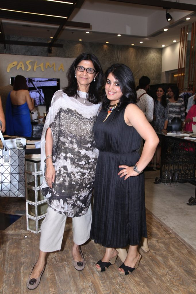 Hosts of the event Shilu Kumar and Jewelery Designer Saraswati Kaul Jain
