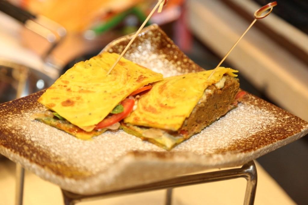 Paratha Shammi Kebab sandwich
