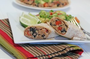 Quinoa Black Bean Burrito (Photo by Erin Chase)