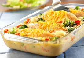 Cheesy-chicken-and-rice-casserole