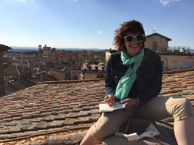 Quinn Western, a senior journalism major, is spending her last semester abroad in Viterbo, Italy. She lives just a quick train ride to Rome equivalent to the drive from Chico to Sacramento.