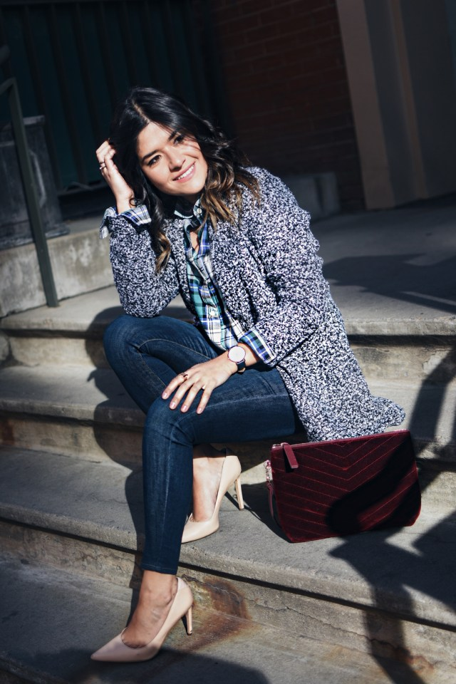 Carolina Hellal of Chic Talk wearing an Old Navy total look.