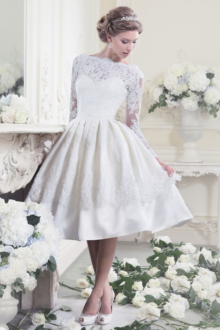 25 tea length wedding dresses t length wedding dresses Ellis Bridal Tea Length Wedding Dress
