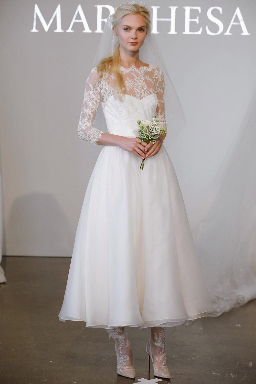 25 tea length wedding dresses t length wedding dresses Tea Length Wedding Dress from Marchesa s Spring Collection