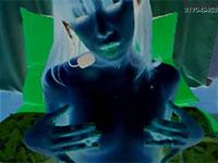 手のひらでデカナガ乳首をグリグリ弄り擦って乳首アクメするマキさんの神動画