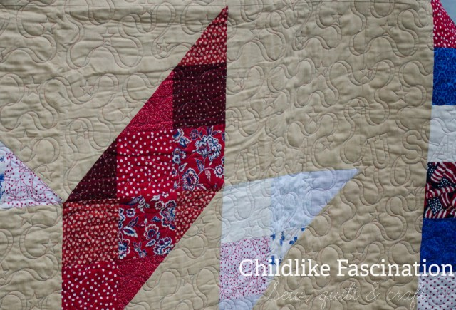 Closeup of the beautiful quilting