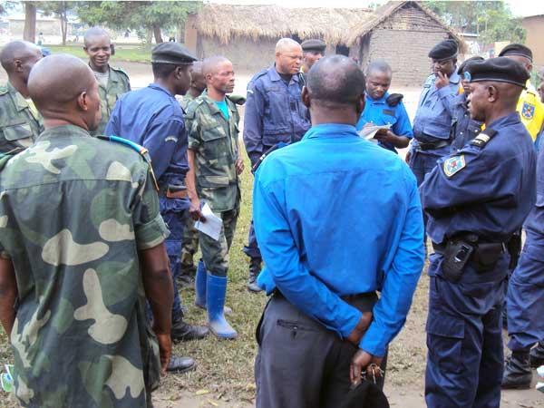 Focus-groupe des militaires et des policiers sur les droits humains