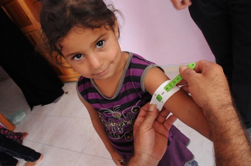 As equipes de saúde estão realizando um levantamento nutricional em 96 casas na área de Adana. Foto: UNICEF/Yurtsever