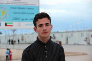 Mohammed, 18, from Aleppo, now lives in Harran Camp in Sanliurfa, Turkey.