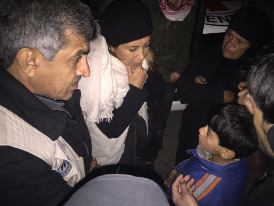 UNICEF Representative met children and their families inside Madaya. They explained to her how they survived extreme conditions.  Many of them said they had to eat soup made of leaves, water and spices, because of lack of food. On Monday, UNICEF, as part of a UN, ICRC and Syrian Arab Red Crescent convoy delivered therapeutic nutrition supplies that included multiple micronutrient, therapeutic spread, high energy biscuits to people in need in Madaya. UNICEF/2016/Madaya