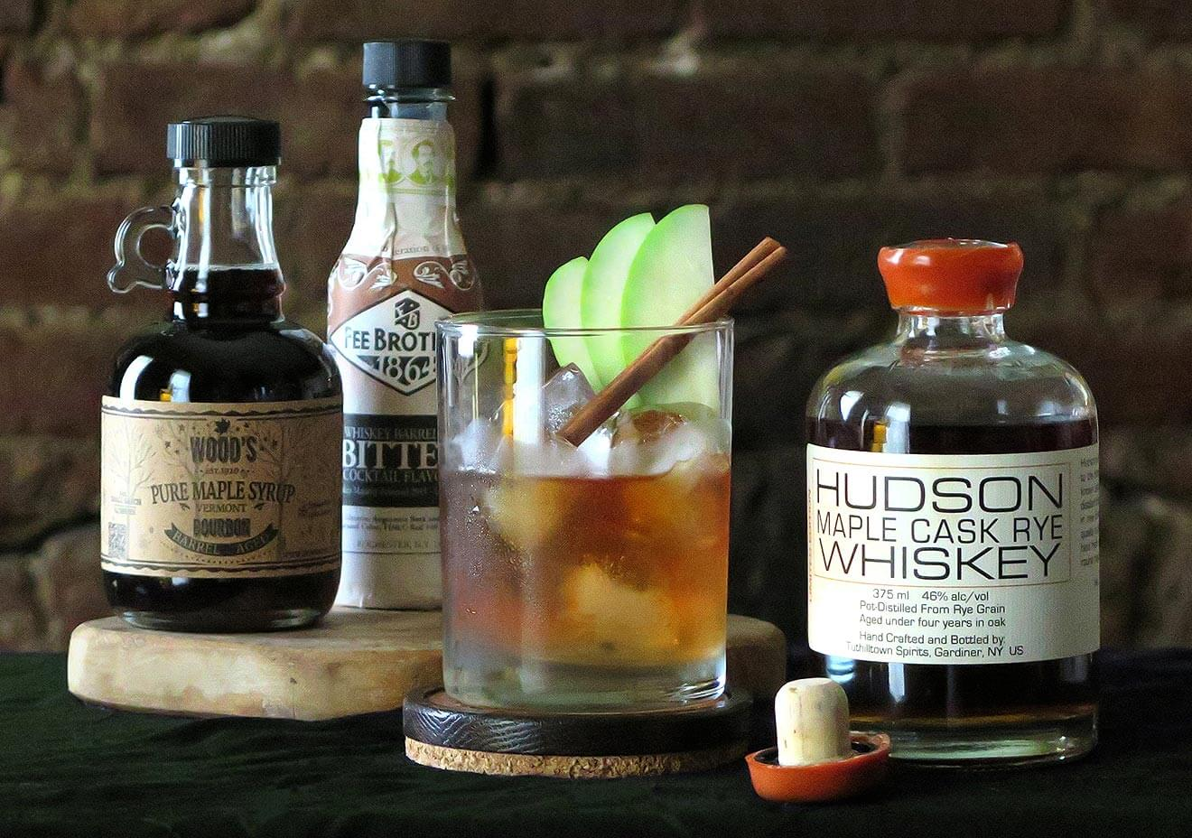 Traditional Maple Fashioned Cocktail Hudson Whiskey Maple Cask Rye Cocktails Chilled Magazine Rye Whiskey Cocktails Winter Rye Whisky Cocktails nice food Rye Whiskey Cocktails