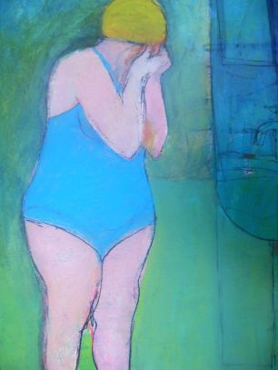 'Bather in Blue' by Cormac O'Leary at the Chimera Gallery, Mullingar, Co Westmeath , Ireland