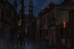 'Mary Street Mullingar' by Dave West at the chimera Gallery, Mullingar, Co Westmeath, Ireland.