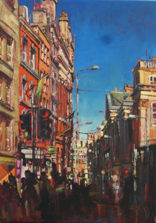 'Dublin Street' by Dave West at the Chimera Gallery., Mullingar, Co Westmeath , Ireland