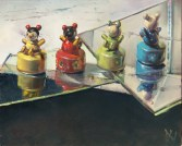 """""""Pencil Sharpeners"""" by Dave West at the Chimera Gallery, Mullingar, Co Westmeath, Ireland."""