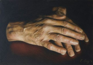 'Fathers Hands' by Catherine Creaney at the Chimera Gallery ,Mullingar, Co Westmeath, Ireland