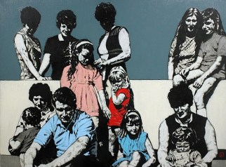 'Benburb Sunday' by Lorcan Vallely at the Chimera Gallery, Mullingar, Co Westmeath , Ireland