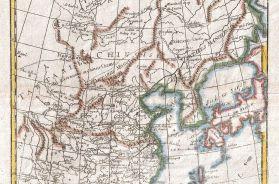 1780 - Raynal and Bonne Map of China, Korea and Japan