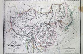 Carte de L'Empire Chinois de Du Japon 1836.