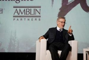 Steven Spielberg, director and chairman of Amblin Partners, gestures as he speaks during an event to announce partnership between Alibaba Pictures Group Limited and Amblin Partners, in Beijing, China, October 9, 2016. REUTERS/Shirley Feng